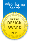"""Best Web Design Award 2011 - Walking Window Writing and Web Design was chosen Top Pick Web Design Company for 2011 by Web Hosting Search."""